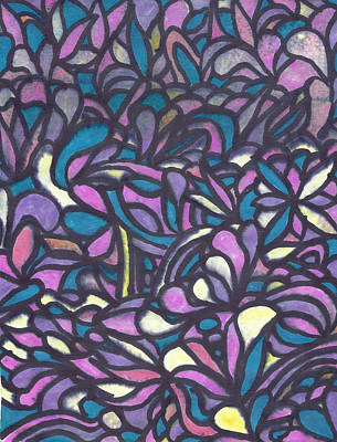 Mixed Media - Passion In Purple by Wayne Potrafka