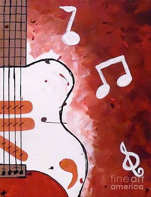 Coffee Jazz Music Abstract Painting - Passion by Jilian Cramb - AMothersFineArt