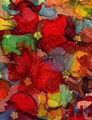 Mixed Media - Passion Of Flowers by Klara Acel