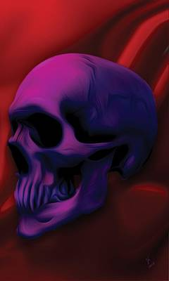 Skull Painting - Passion by Vic Weiford