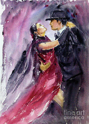 Painting - Passionate Dancers by Asha Sudhaker Shenoy