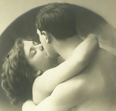 Photograph - Passionate Kiss by French School