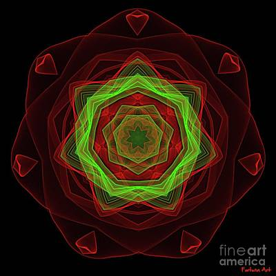 Digital Art - Passionate Mandala by Dragica Micki Fortuna