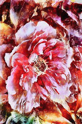 Digital Art - Passionate Peony by Jo-Anne Gazo-McKim