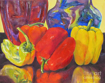 Painting - Passionate Peppers by Lisa Boyd