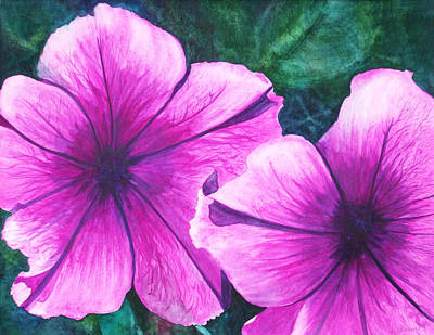 Passionate Petunias Art Print by Ally Benbrook