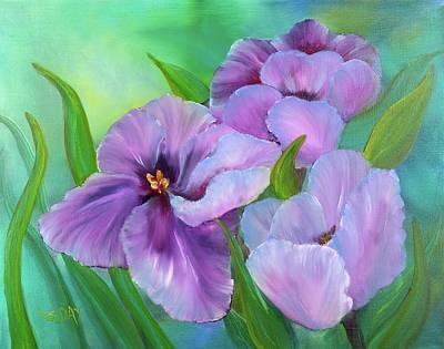 Passionate Tulips Art Print