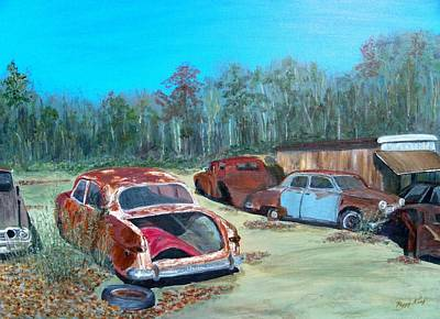 Junk Yard Painting - Passions Past Tense by Peggy King