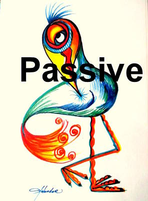 Drawing - Passive Taino Bird by Yolanda Rodriguez