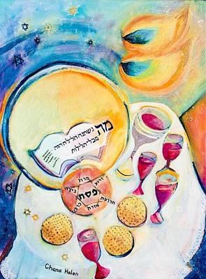 Painting - Passover Seder by Chana Helen Rosenberg