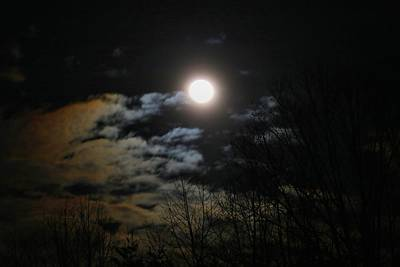 Photograph - Past Full Supermoon by Kathryn Meyer