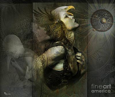 Digital Art - Past -present -future by Ali Oppy
