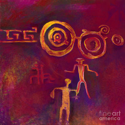 Shamanism Painting - Past  Present  Future by Julianne Black
