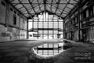Photograph - Past Reflections At The Casino Building In Asbury Park by John Rizzuto