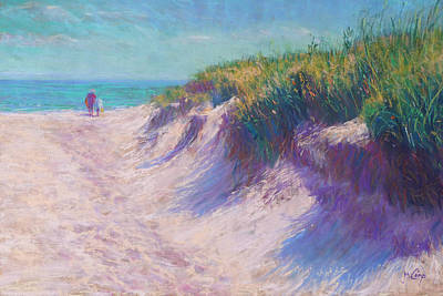 Pastels Painting - Past The Dunes by Michael Camp
