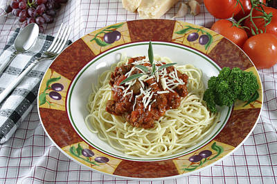 Pasta Dish With Meat Sauce Print by Jack Dagley