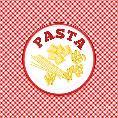 Pasta Plate Art Print by Anne Kitzman