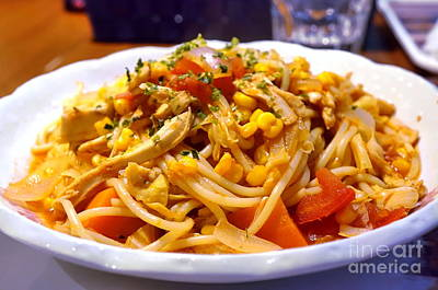Photograph - Pasta With Fresh Tomatoes And Chicken by Yali Shi
