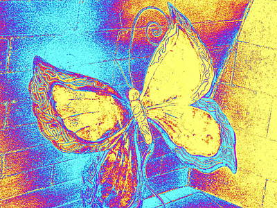 Photograph - Pastel Abstract Butterfly by Karen J Shine