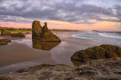 Photograph - Pastel Bandon Sunset by Darren White