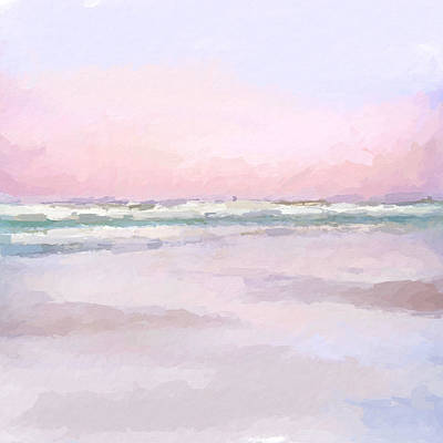 Mixed Media - Pastel Beach by Anthony Fishburne