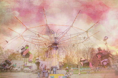 Photograph - Pastel Carnival Swing Ride For Nursery Room by Joann Vitali