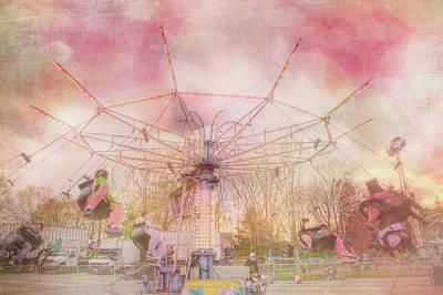 Photograph - Pastel Carnival Swing Ride For Nursery Room by Joann Vitali
