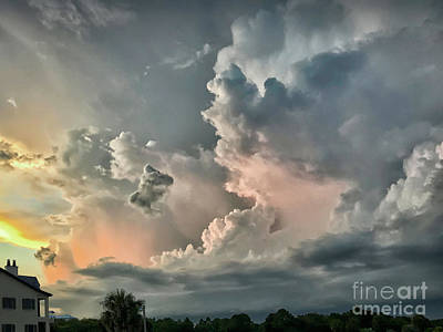 Pastel Clouds Art Print by Walt Foegelle