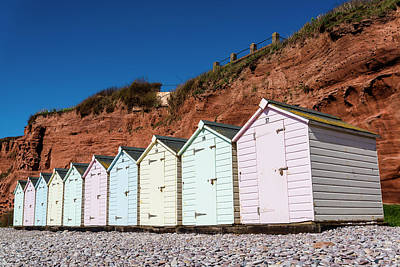 Photograph - Pastel-coloured Beach Huts by Lana Enderle