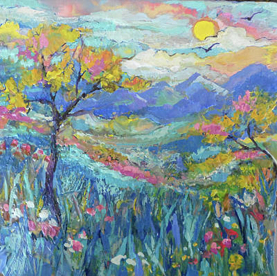 Painting - Pastel Country 2 by Jean Batzell Fitzgerald
