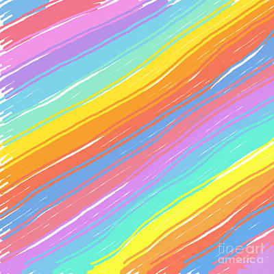 Digital Art - Pastel Diagonals by Susan Stevenson