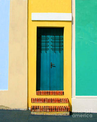Stuco Photograph - Pastel Doorway by Perry Webster