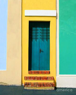 Pastel Doorway Art Print by Perry Webster