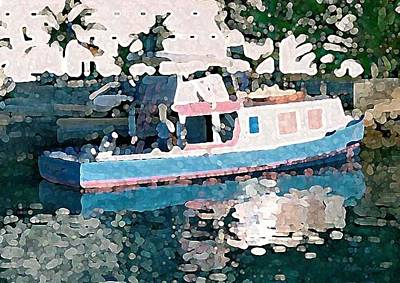 Digital Art - Pastel Fishing Boat by Donna Corless