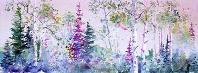 Painting - Pastel Forest by Connie Williams