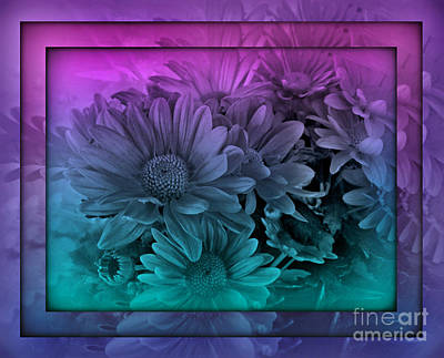 Photograph - Pastel Garden Dawn - Stained Glass Series by Miriam Danar