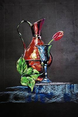 Painting - Pastel Glow by Khalid Saeed