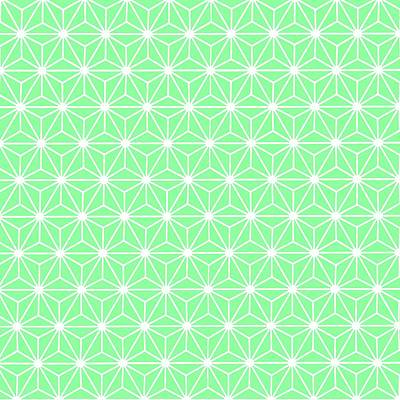 Digital Art - Pastel Green Geometric Flowers And Florals Isosceles Triangle by Tracey Harrington-Simpson
