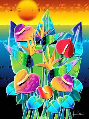 Wall Art - Digital Art - Pastel Hearts by Jack Potter