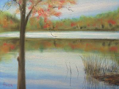 Lakescape Painting - Pastel Lake by Pete Maier