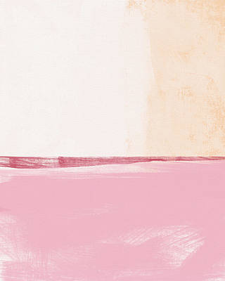 Abstract Landscape Royalty-Free and Rights-Managed Images - Pastel Landscape by Linda Woods