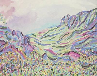 Pastel Landscape Art Print by Suzanne  Marie Leclair