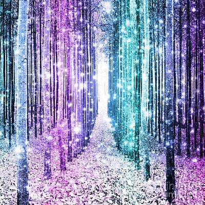 Pastel Magical Forest Path Art Print