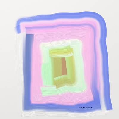 Painting - Pastel Maze - The Series by Lenore Senior