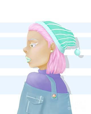 Poncho Digital Art - Pastel by Morgan Temple