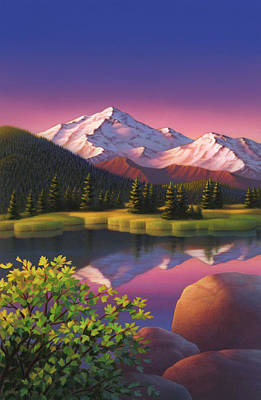 Painting -  Pastel Mountain by Robin Moline