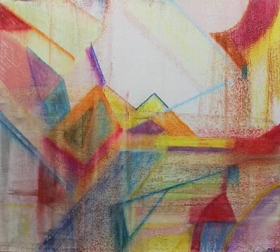Painting - Pastel Msc 013 by Mario Sergio Calzi