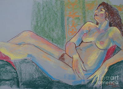 Drawing - Pastel Nude by Joanne Claxton