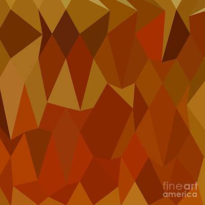 Oriole Digital Art - Pastel Orioles Orange Abstract Low Polygon Background by Aloysius Patrimonio