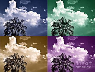 Photograph - Pastel Palms by Angela J Wright